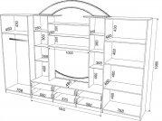 "Чертеж - схема корпусной мебели стенки ""Омега "" ."